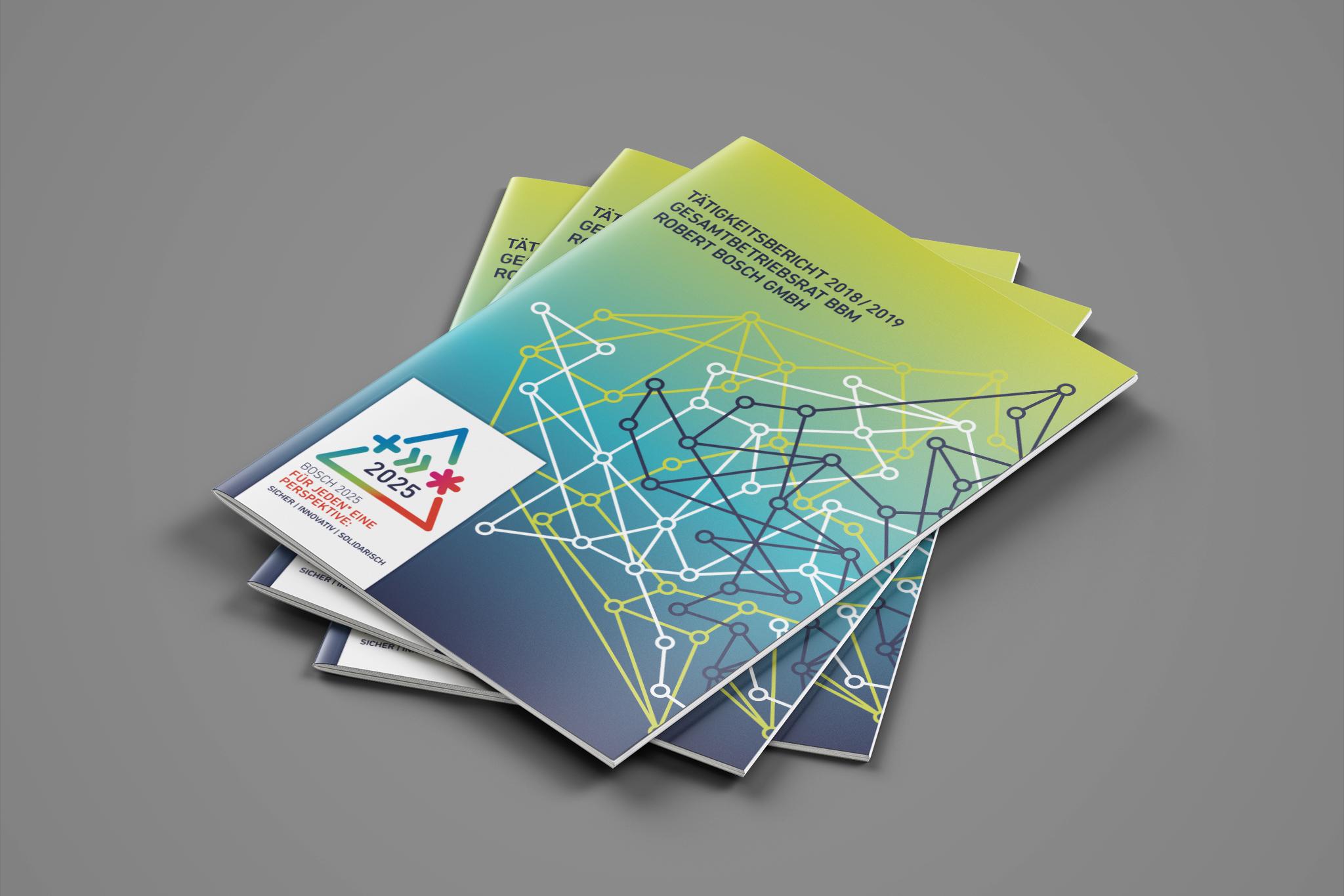 BOSCH Tätigkeitsbericht 2018 | Design: Johannes Willwacher (für OPAK)