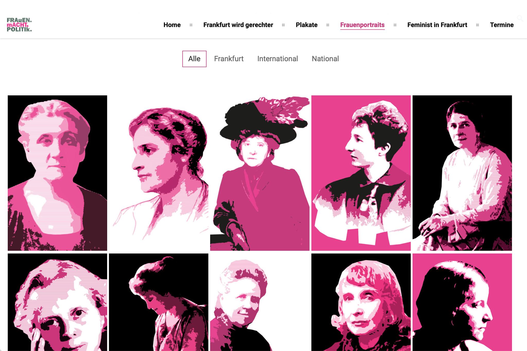 Frauen Macht Politik, Frauenreferat Frankfurt | Design: Johannes Willwacher