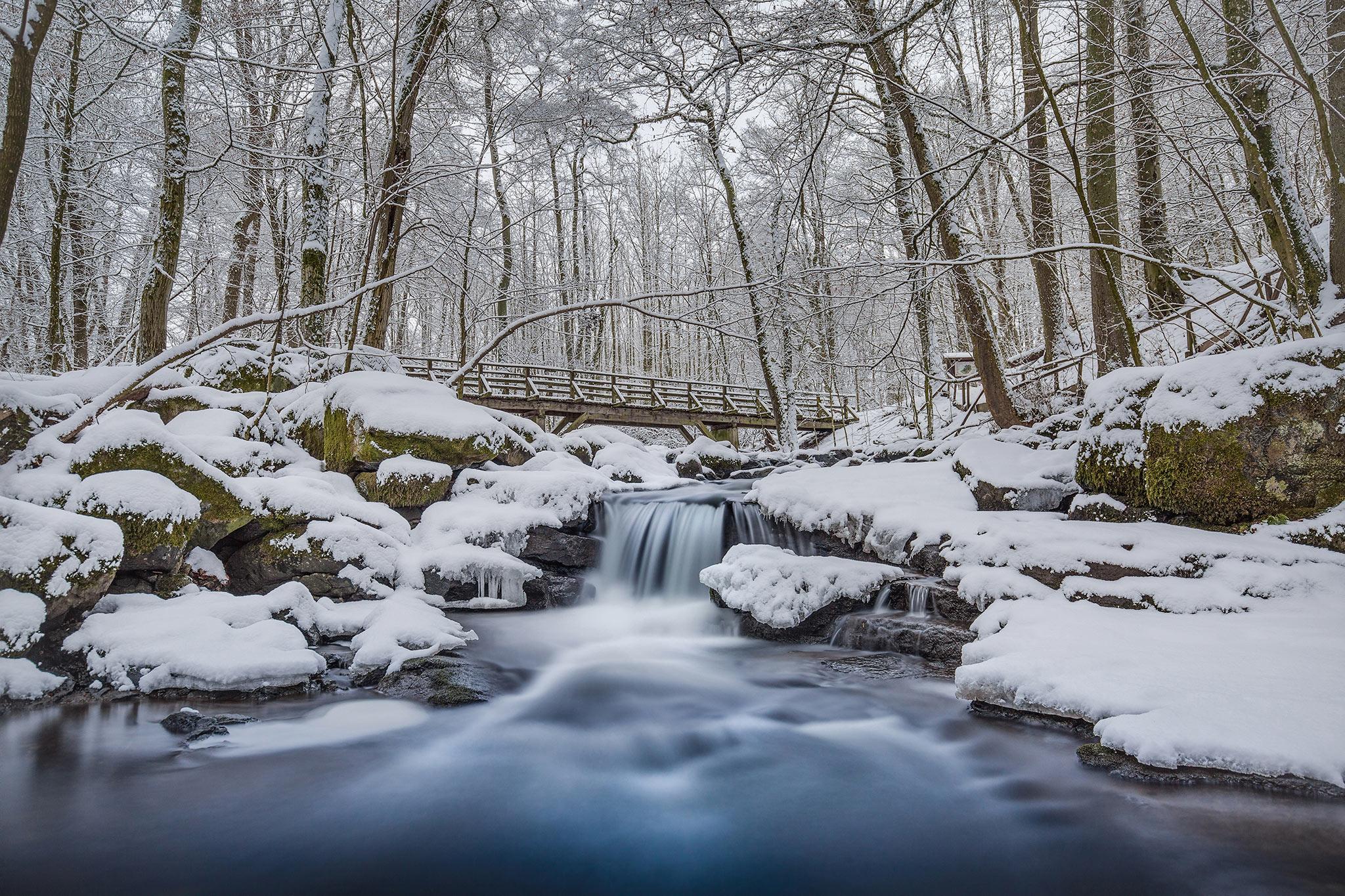 Wasserfall in der Holzbachschlucht bei Gemünden | Foto: Johannes Willwacher