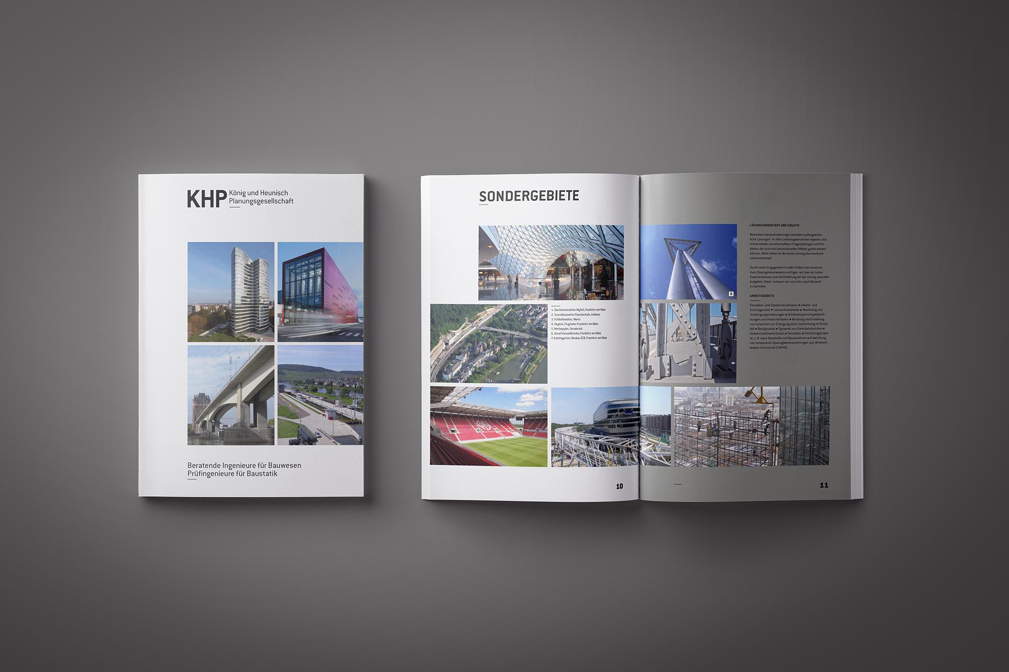 KHP Ingenieurbüro, Selbstdarstellung (2019) | Design: Johannes Willwacher (für OPAK)