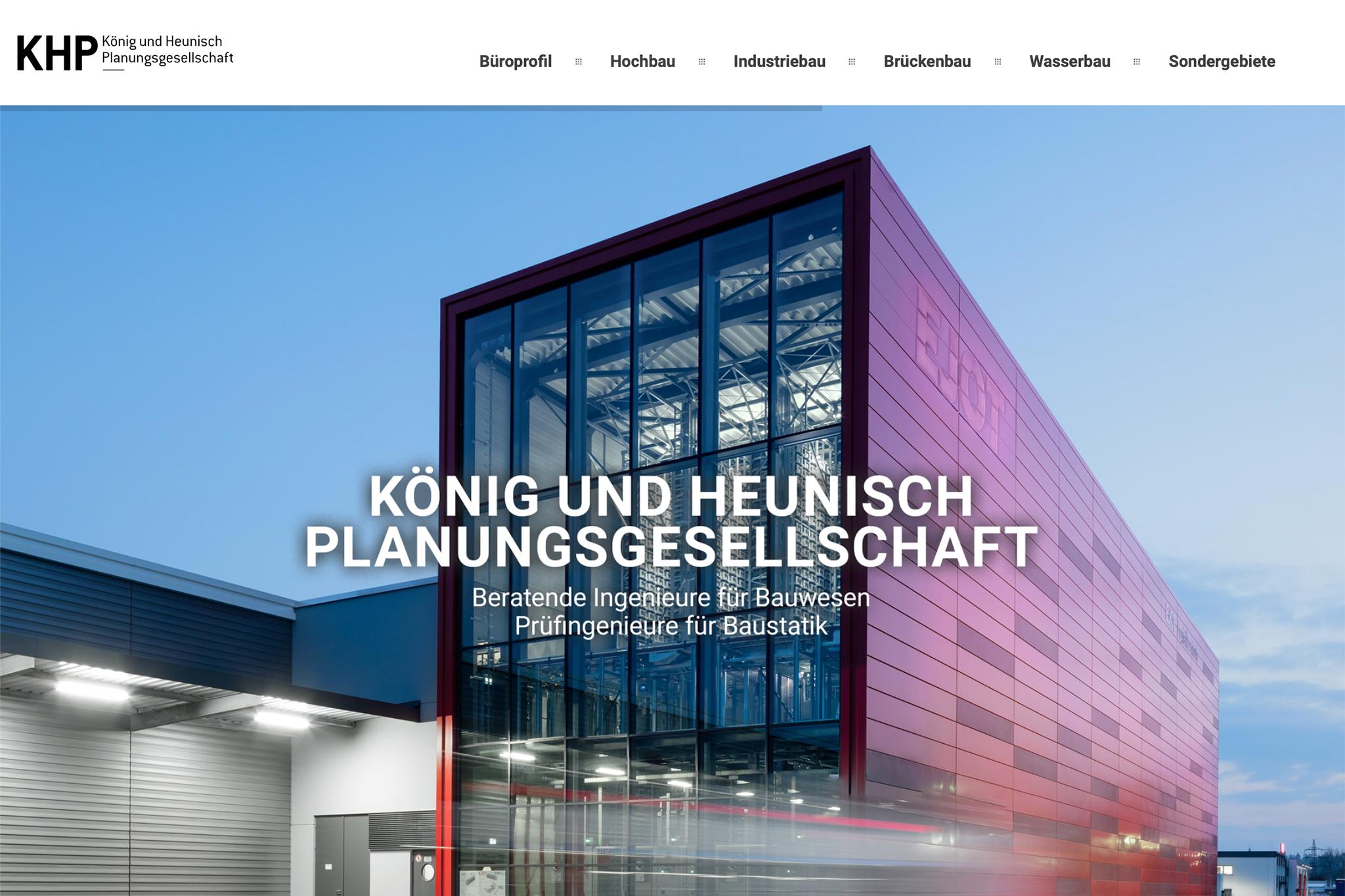 Ingenieurbüro KHP, Frankfurt am Main | Design: Johannes Willwacher