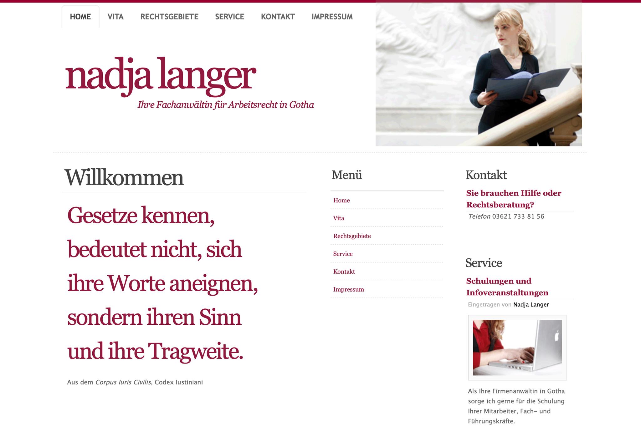 RA Nadja Langer, Gotha | Design: Johannes Willwacher